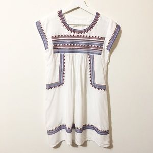 White Cotton Embroidered Dress or Cover up